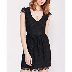 Urban Outfitters Kimchi Blue Black Lace Dress - XS